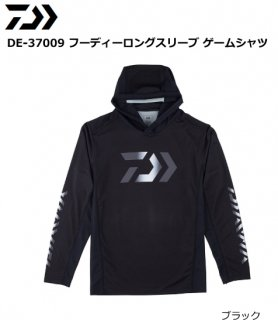ダイワ DE-37009 フーディーロングスリーブ ゲームシャツ ブラック XL(LL)サイズ