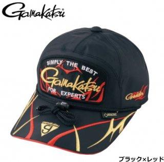 がまかつ ゴアテックス(R) キャップ (ワッペン) GM-9859 ブラック×レッド Mサイズ / 帽子