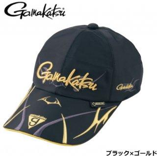 がまかつ ゴアテックス(R) ロングバイザーキャップ GM-9860 ブラック×ゴールド Mサイズ / 帽子