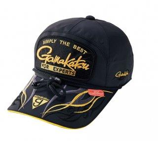 がまかつ ウィンドストッパー(R) キャップ (ワッペン) GM-9841 ブラック×ゴールド LLサイズ / 帽子 (お取り寄せ商品)