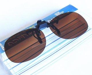 ウェーブギア クリップ式偏光グラス KP-379 ブラウン / SALE10 (メール便可)