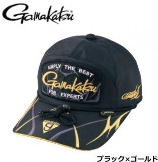 がまかつ ゴアテックス(R) ロングバイザーキャップ GM-9860 ブラック×ゴールド LLサイズ / 帽子