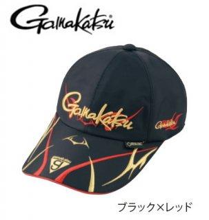 がまかつ ゴアテックス(R) ロングバイザーキャップ GM-9860 ブラック×レッド LLサイズ / 帽子