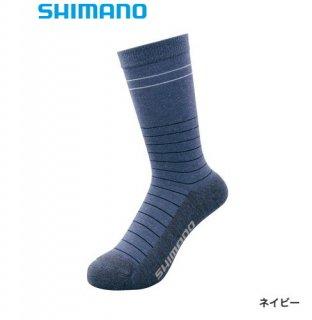 シマノ ブレスハイパー+℃ スタンダードソックス SC-041S ネイビー フリーサイズ / ウエア (メール便可)