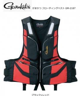 がまかつ フローティングベスト GM-2187 ブラック×レッド 3Lサイズ (お取り寄せ商品) (送料無料)