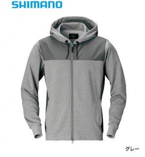 【冬物セール 50%OFF】 シマノ ライトスウェットフルジップパーカー WJ-074S グレー Lサイズ / ウェア