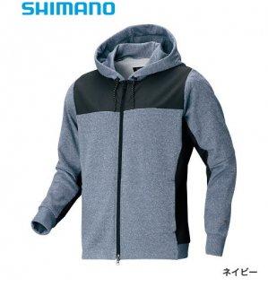 【冬物セール 50%OFF】 シマノ ライトスウェットフルジップパーカー WJ-074S  ネイビー XL【LL】サイズ / ウェア