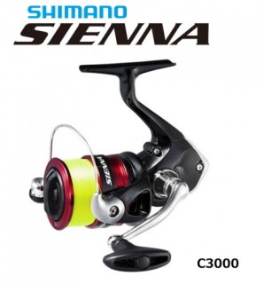 シマノ 19 シエナ C3000 3号糸付き / スピニングリール