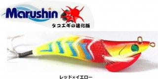マルシン漁具 タコエギ レッツ ライド 3.0号 レッド×イエロー / 蛸餌木