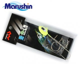 マルシン漁具 タチウオダートテンヤ 2本針タイプ グロー 15g (Sサイズ) / タチウオテンヤ (メール便可)