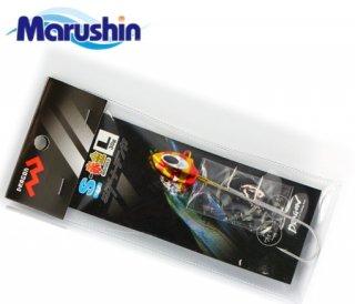マルシン漁具 タチウオダートテンヤ 2本針タイプ 赤金 15g (Sサイズ) / タチウオテンヤ (メール便可)