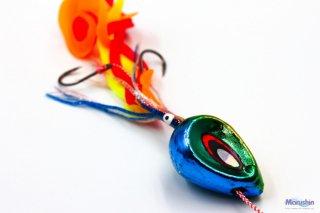 マルシン漁具 ドラフトスライド ブルーゴールド 75g / 鯛ラバ タイラバ (メール便可) 【本店特別価格】