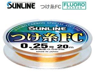 サンライン つけ糸FC 20m 0.6号 / 鮎友釣り用品 (O01) (メール便可) 【本店特別価格】