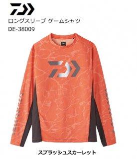 【セール 40%OFF】 ダイワ 20 ロングスリーブ ゲームシャツ DE-38009 スプラッシュスカーレット 2XL(3L)サイズ