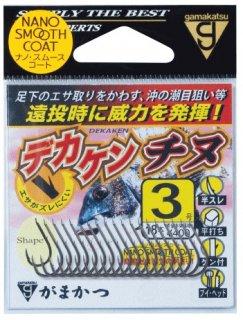 がまかつ デカケンチヌ 3号 / チヌ針 (メール便可) 【本店特別価格】