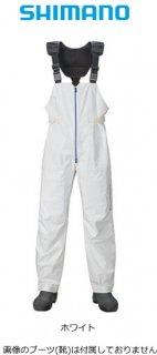 シマノ SS 3Dマリンサロペット RA-03PT ホワイト XL(LL)サイズ / レインウェア (S01) (O01) (送料無料) 【本店特別価格】