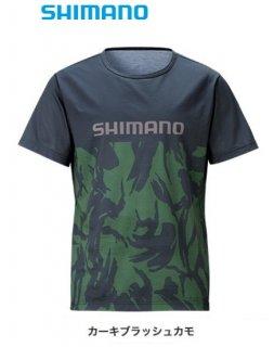 【セール】 シマノ Tシャツ (半袖) SH-096T カーキブラッシュカモ XL(LL)サイズ