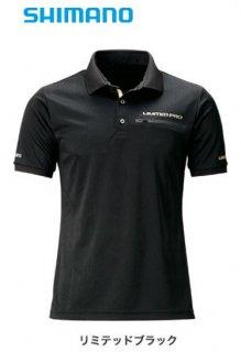 【セール】 シマノ ポロシャツ (半袖) リミテッド プロ SH-174T リミテッドブラック Mサイズ / ウェア (O01) (S01)
