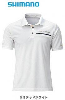 【セール】 シマノ ポロシャツ (半袖) リミテッド プロ SH-174T リミテッドホワイト Mサイズ / ウェア (O01) (S01)