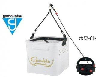 がまかつ エサ入れ水汲みバケツ (ロープ巻付) GM-2518 ホワイト 【本店特別価格】