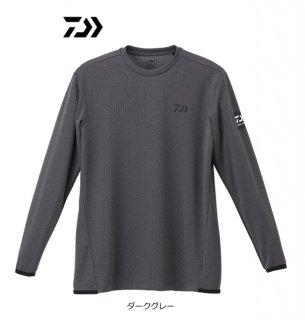 ダイワ ロングスリーブゲームTシャツ DE-9320 ダークグレー 2XL(3L)サイズ / ウェア (D01) (O01)