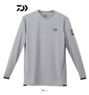 ダイワ ロングスリーブゲームTシャツ DE-9320 グレー 2XL(3L)サイズ / ウェア (D01) (O01)