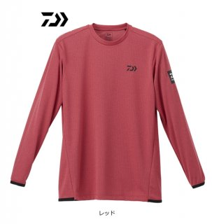 ダイワ ロングスリーブゲームTシャツ DE-9320 レッド Lサイズ / ウェア (D01) (O01)