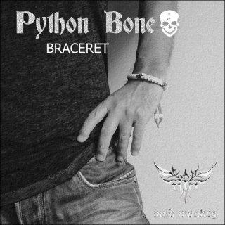 パイソンボーン・鹿紐ブレスレットBRASS/マーブル/ホワイト/ブラック