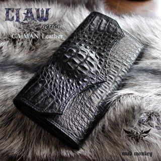 クロコダイル 財布・クラウンブラック/Wステッチ/ジャバラタイプ/カード収納28枚