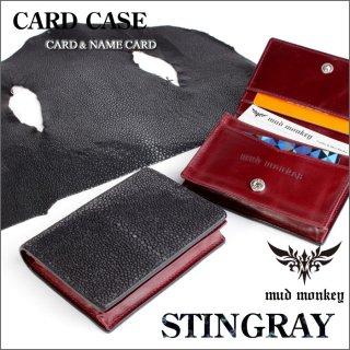 カードケース 名刺入れ/メンズ/ポリッシュスティングレイ黒