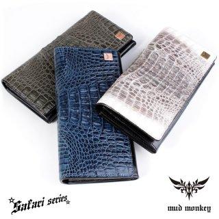 クロコダイル 長財布/グレイ・ブルー・ビンテージホワイト/イタリアンブラック/カード収納20枚