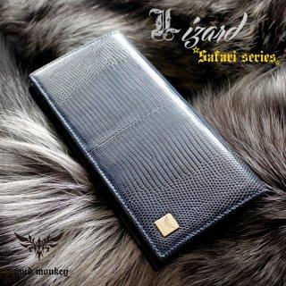 リザード・トカゲ 長財布/ブルー/イタリアンレザー/カード収納20枚