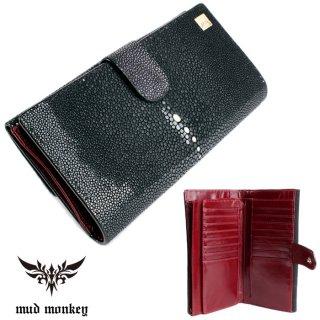 スティングレイ 長財布・ポリッシュブラック/大容量長財布/カード収納24枚/ベロ付