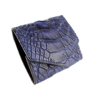 コインケース /クロコダイルレザー・ブルー/シャムワニ革