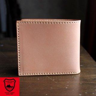 二つ折り財布/栃木レザー・サドルレザー/ショートウォレット/ヌメ革