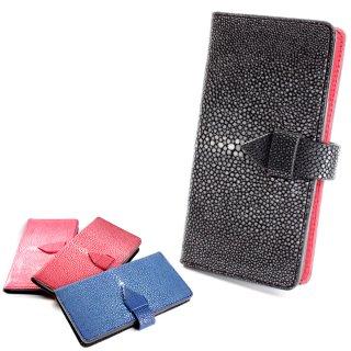 iPhone手帳型ケース/本革/メンズ/エイ革・スティングレイレザー/iphone XS MAX/iphone plus 8/iphone XS/iphone 8 対応