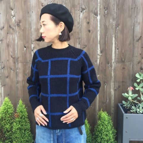 "PULETTE ""Check Knit Sweater"""