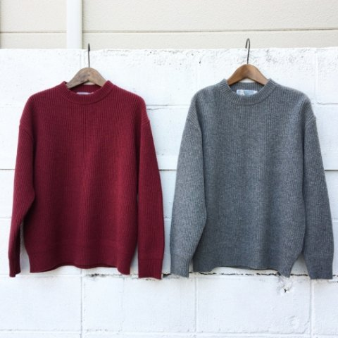 "ISLAND KNIT WORKS ""畦編み Wide Knit"""