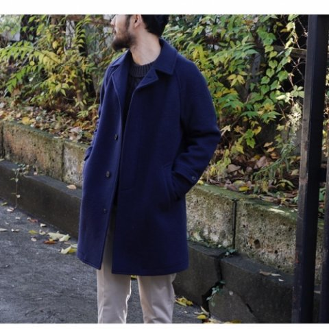 "ID DAILYWEAR ""Wool Stain Collar Coat"""