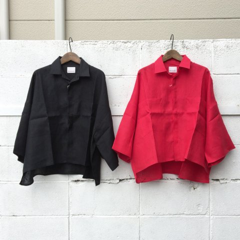 "Honnete ""Fly Front Box Pkt Shirt"""