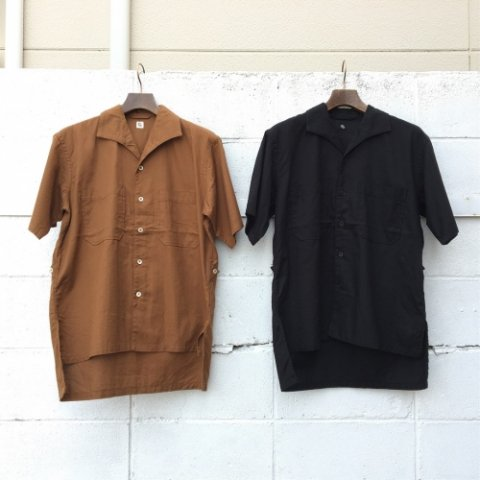 "KAPTAIN SUNSHINE ""Italian Collar Safari Shirt"""