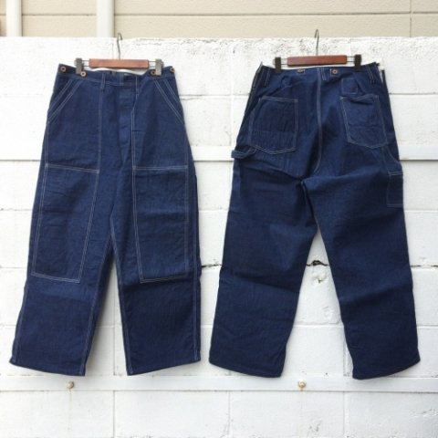 "H.UNIT STORE LABEL ""Denim Side-Open Painter Pants"""