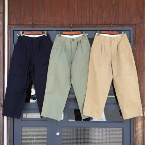 "SETTO ""Giza Cotton Wide Tuck Pants"