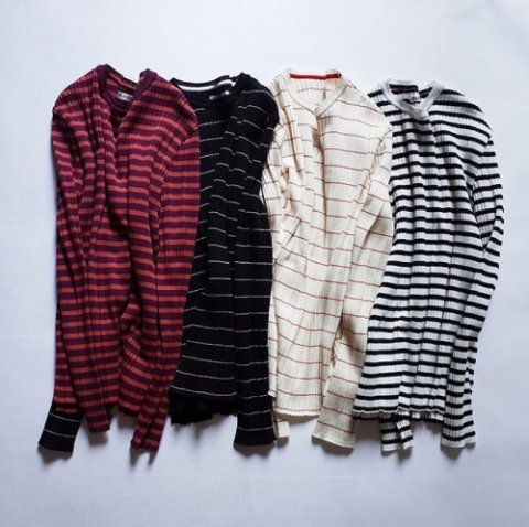 "PULETTE ""Striped Cotton Knit Sweater"""