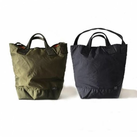 "KAPTAIN SUNSHINE x PORTER ""Quilting Military Nylon Tote SMALL"""