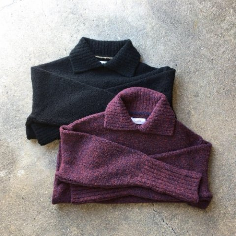 "PULETTE ""Loop Yarn Knit Polo"""