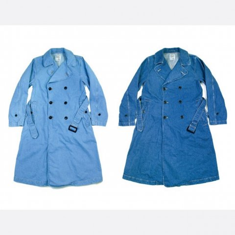 "H.UNIT STORE LABEL ""Denim Trench Coat"""