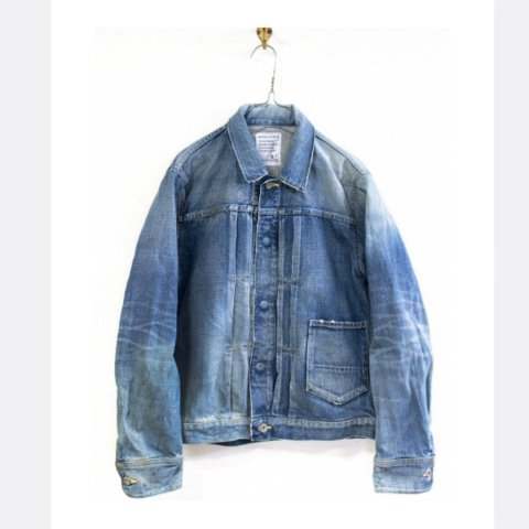 "H.UNIT STORE LABEL ""1st Type Indigo Denim Jacket (Real Wash)"""