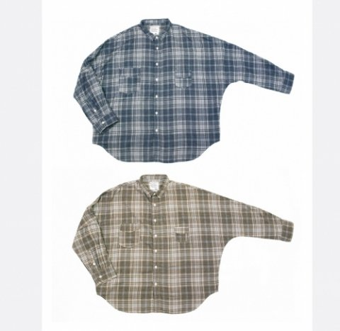 "H.UNIT STORE LABEL ""Flannel Check Dolman Work Long Sleevs Shirt"""