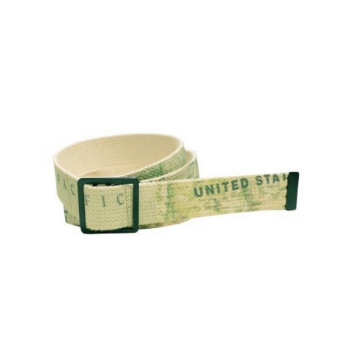 "H.UNIT ""World Map Print Belt"""